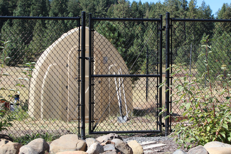 Black Chain Link Fence And Gates Northwest Fence Company