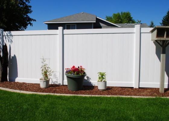 White Vinyl Residential Fencing - Install