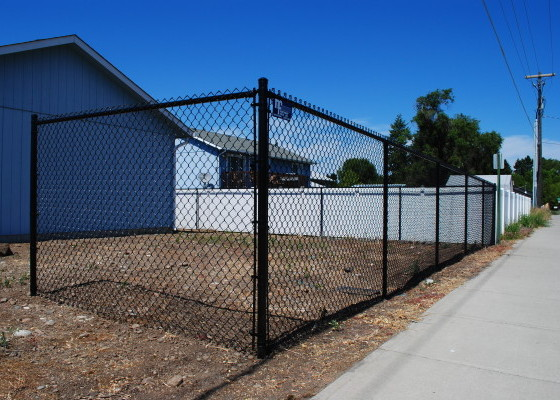 Black Chain Link Fencing - Installed