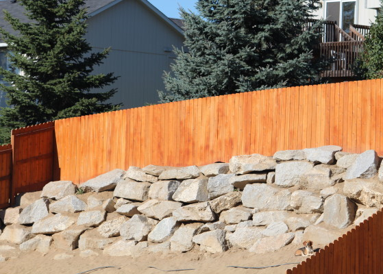 Large Wooden Fence