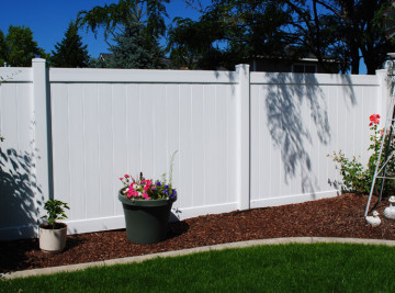 White Vinyl Fence - Installed
