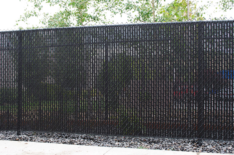 Chain Link Fence with Vinyl Slats