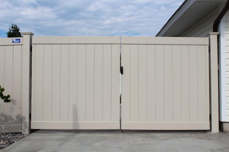 White Vinyl Driveway Gate