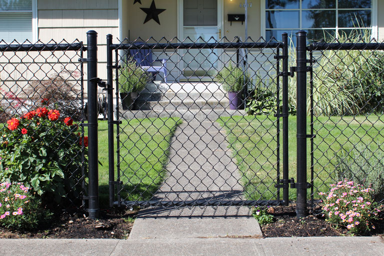 Black Chain Link Walkthrough Gate