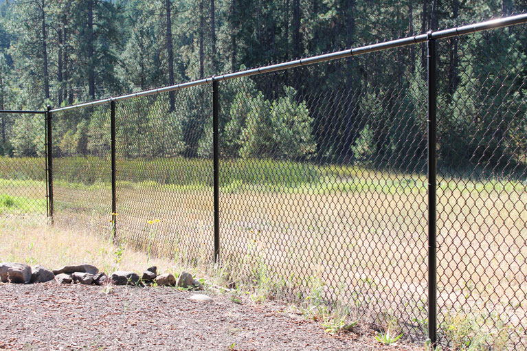 Black Chain Link Fence - Installed