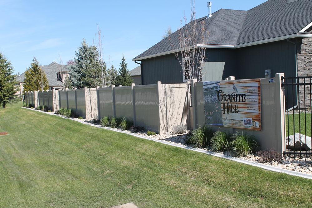Iron Vinyl Fencing Combo Northwest Fence Company