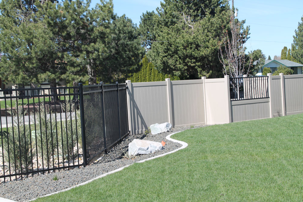 Vinyl and Iron Fence Install