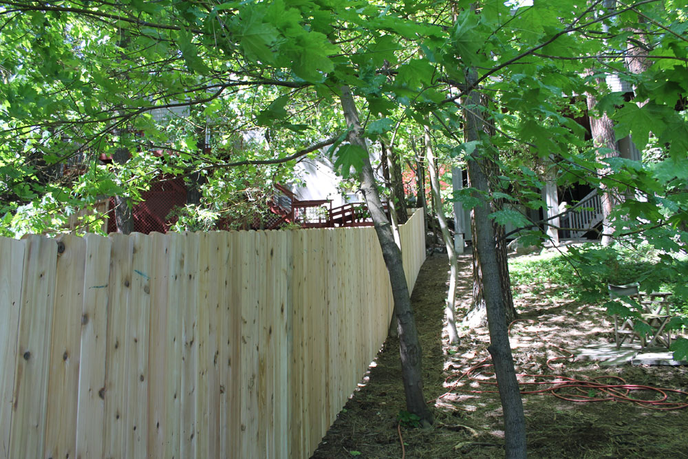 Wooden Fence Install