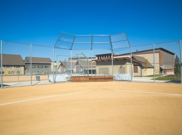 Baseball Chain Link Fence - Installed