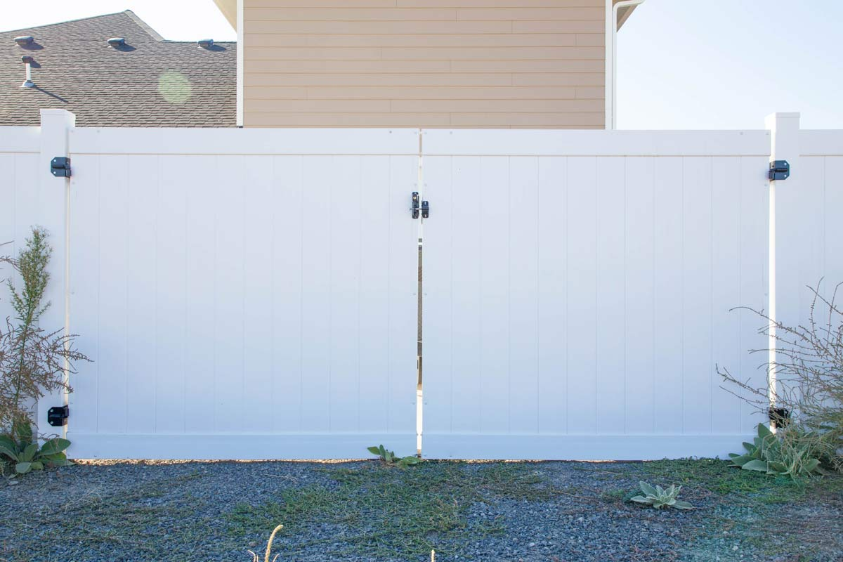 White Vinyl Gate - Installed