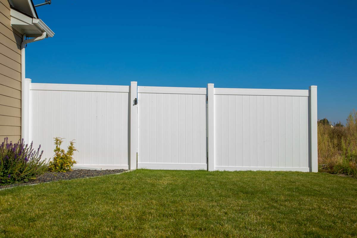 White Vinyl Fence and Gate