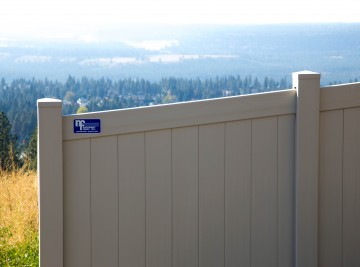 White Vinyl Fence With a View