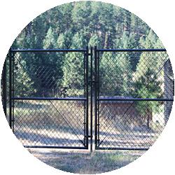 Chain Link Black Gate
