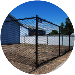 Black Chain Link Gate