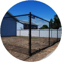 Black Chain Link Gate